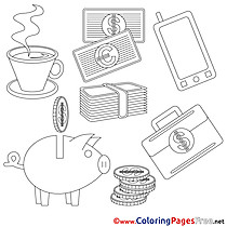Free Business Coloring Sheets