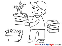 Gardener Coloring Pages Business