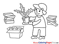 Gardener download Business Coloring Pages