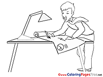 Ingeneer Colouring Sheet download Business