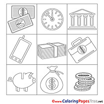 Job Children Business Colouring Page