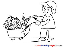 Loader free Colouring Page Business