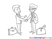 Meeting Business Coloring Pages free