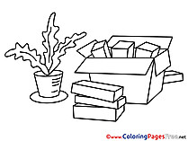 Objects Children Business Colouring Page