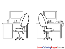 Office Business Coloring Pages download