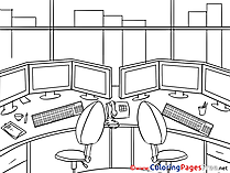 Office for Kids Business Colouring Page