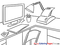 Office printable Coloring Pages Business