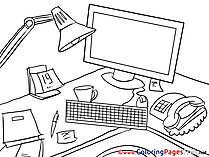 PC for Kids Business Colouring Page