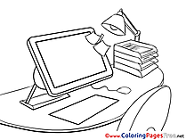 PC Kids Business Coloring Pages