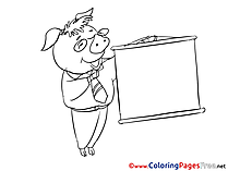Pig Business Coloring Pages download