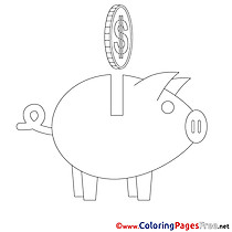 Piggy Bank Business Coloring Pages download