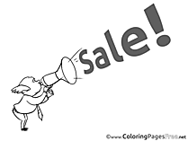 Plane Sale Kids Business Coloring Page
