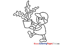 Plant for Kids Business Colouring Page