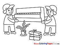Porter Kids Business Coloring Pages