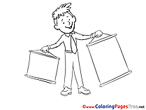 Presentation free Business Coloring Sheets