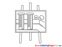 Project printable Business Coloring Sheets