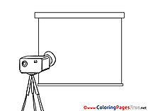 Projector Business free Coloring Pages