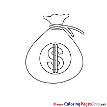 Sac Money Business Colouring Sheet free