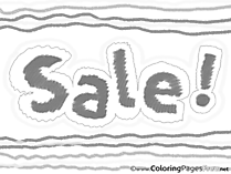 Sale Business Coloring Pages free