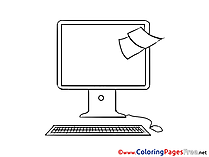 Sticky Note printable Coloring Pages Business