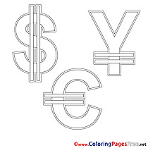 Symbols Coloring Pages Business