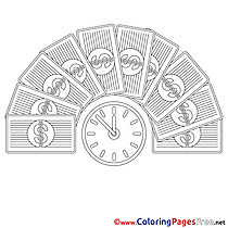 Time Money Business free Coloring Pages