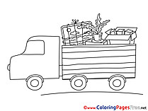 Truck Business Colouring Sheet free