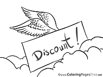 Wings Sale Kids Business Coloring Page