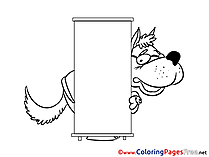 Wolf Kids Business Coloring Page