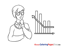 Woman Diagram Coloring Sheets Business free