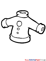 Clothes for free Coloring Pages download