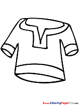 Clothes Kids free Coloring Page