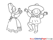 Costumes free printable Coloring Sheets