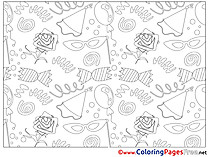 Decoration download printable Coloring Pages