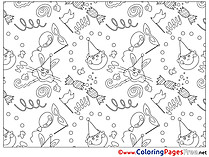 Decoration for Kids printable Colouring Page