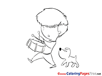 Drum free Colouring Page download
