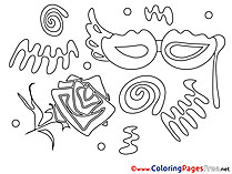 Feast Kids download Coloring Pages