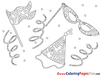 Festival Children download Colouring Page