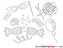 Festival Kids download Coloring Pages