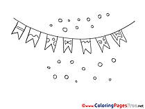 Flags download Colouring Sheet free