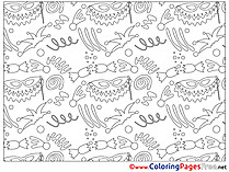 For Children free Decoration Coloring Pages