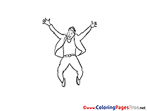 For Kids printable Colouring Page Man