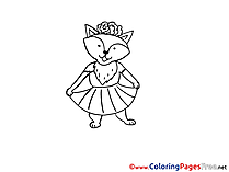 Fox free printable Coloring Sheets