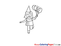 Girl for Children free Coloring Pages