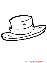 Hat Kids download Coloring Pages
