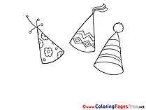 Hats Kids download Coloring Pages