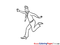Man free Colouring Page download