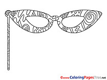 Mask printable Coloring Pages for free