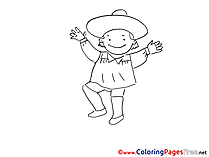 Mexican Coloring Sheets download free
