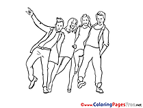 Party Coloring Pages for free